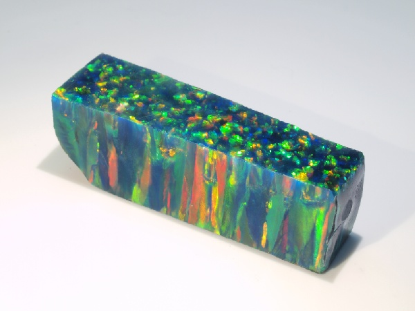 Impregnated Synthetic Opal - Black Opal (Orange Fire)